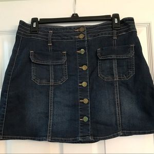 Jolt Skirts - Button front denim mini